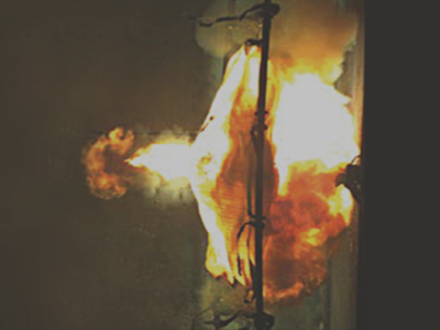 arc flash testing fire image