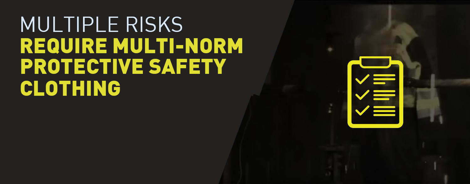 Multi-norm protective safety clothing