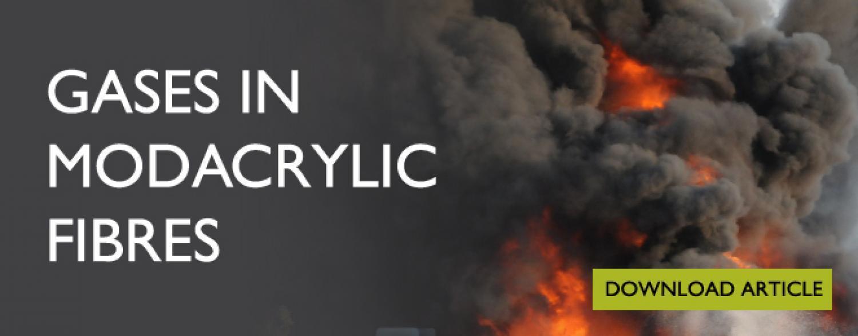 Gases in Modacrylic Fibres